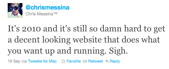 Chris Messina tweet 19 Sept 10